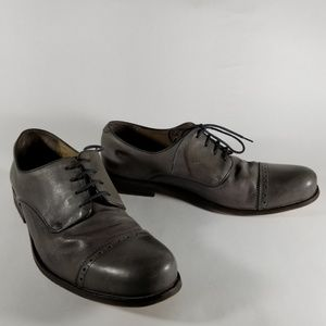 French Connection Gray Cap Toe Brogue Oxfords